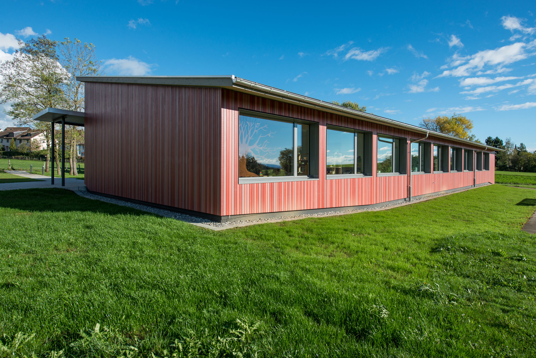 Minergie Doppelkindergarten & Turnhalle Lohn Holzbau 1