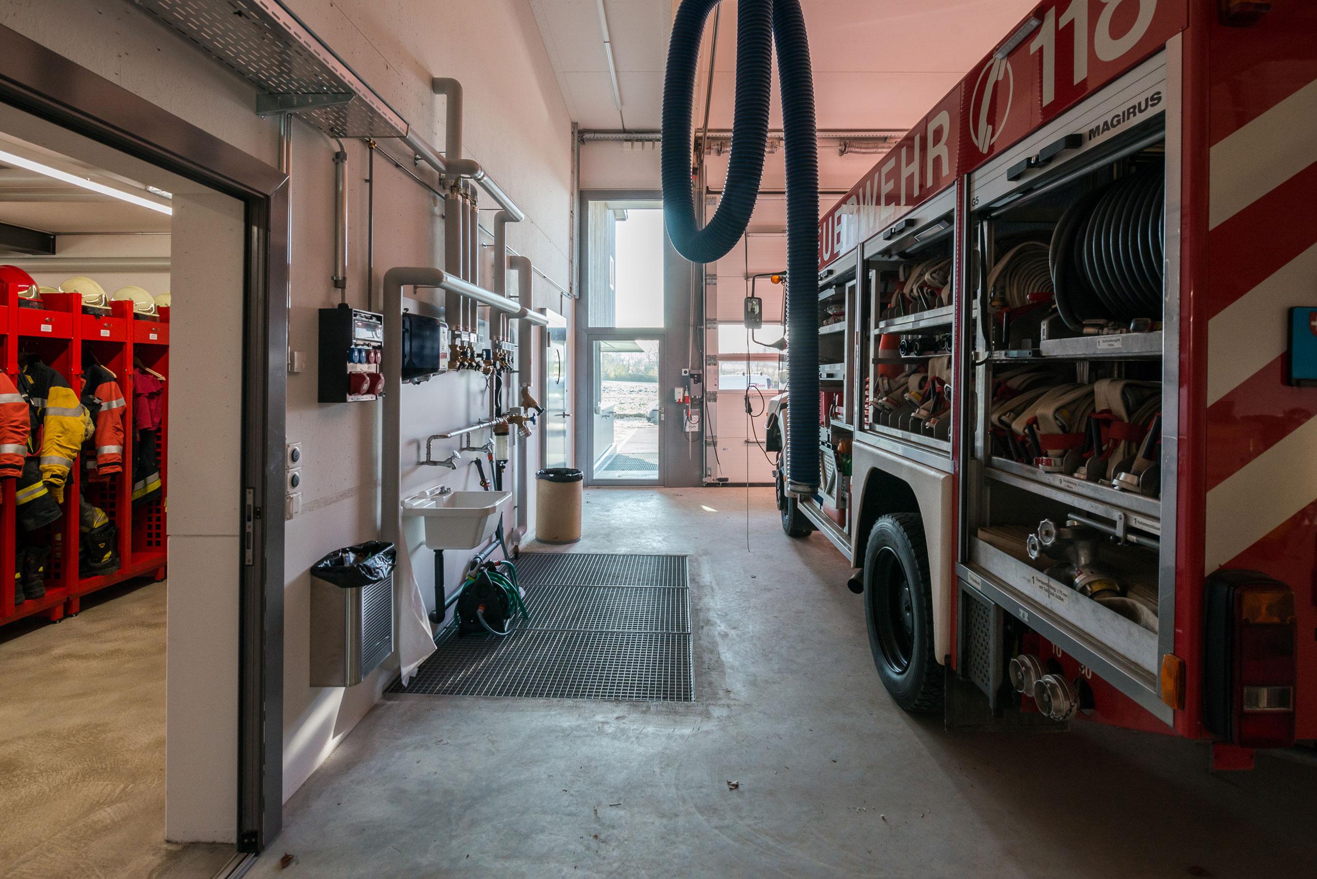 Minergie Feuerwehrmagazin Lohn Holzbau 5
