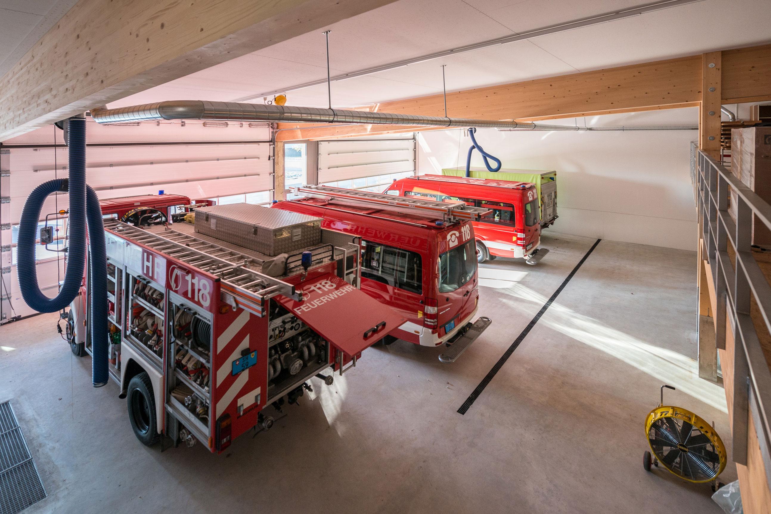 Minergie Feuerwehrmagazin Lohn Holzbau 6