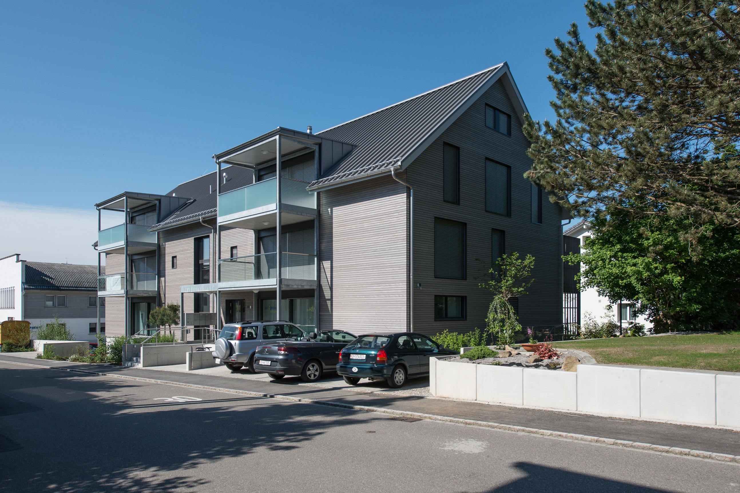 Minergie MFH Wohn & Geschäftshaus Ossingen Holzbau 1