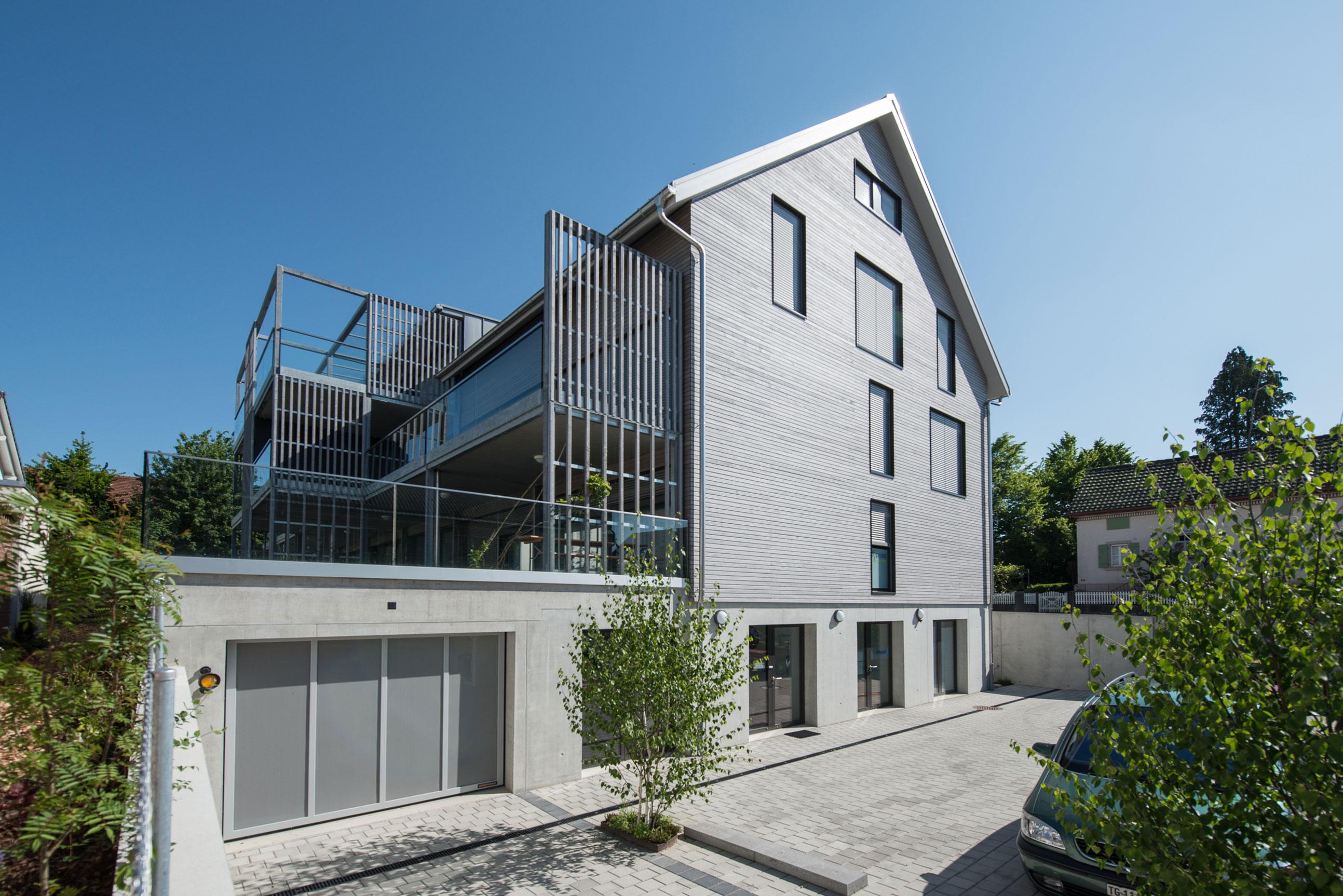 Minergie MFH Wohn & Geschäftshaus Ossingen Holzbau 2