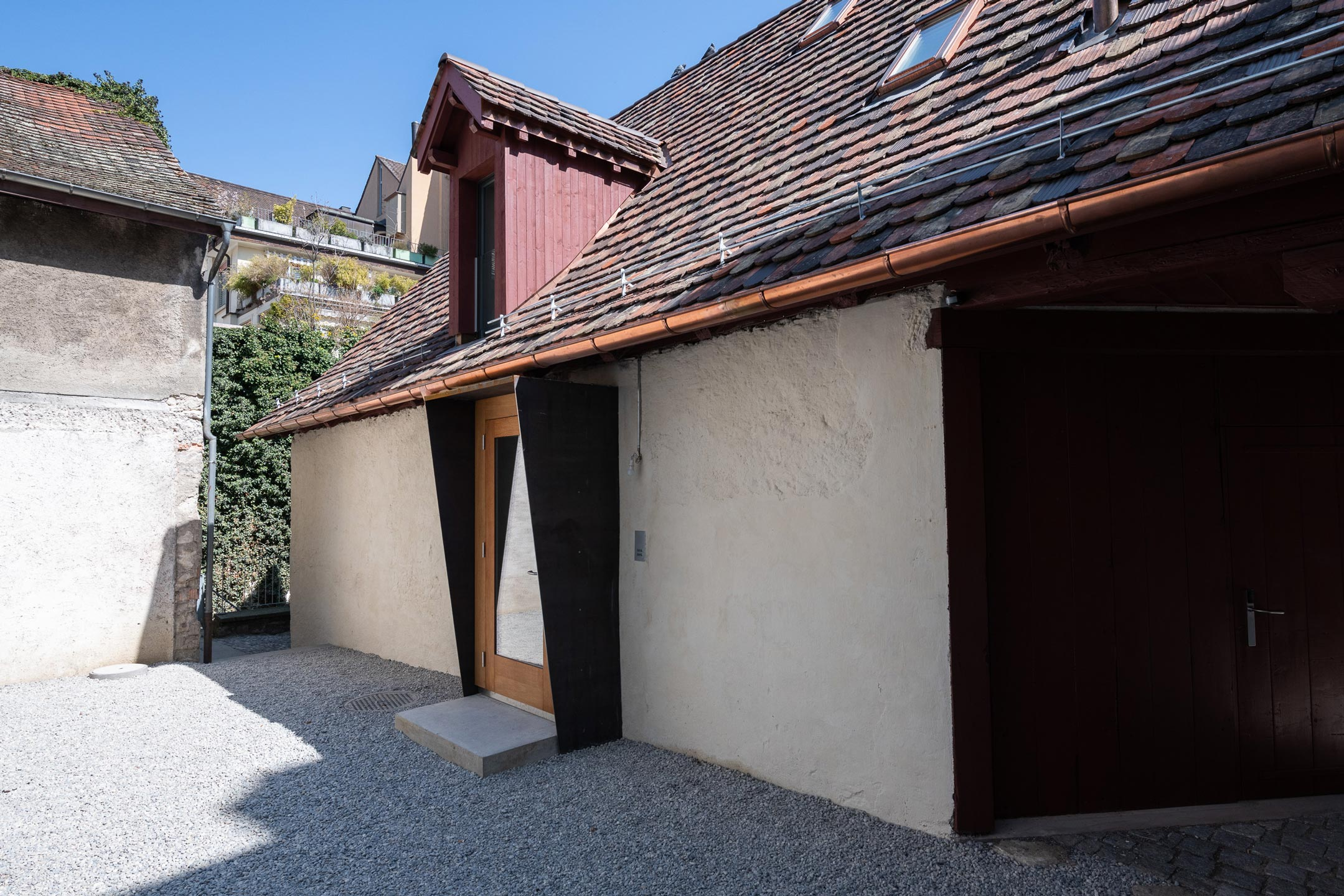 Umbau Hotel Tanne Schaffhausen Eingang Remise