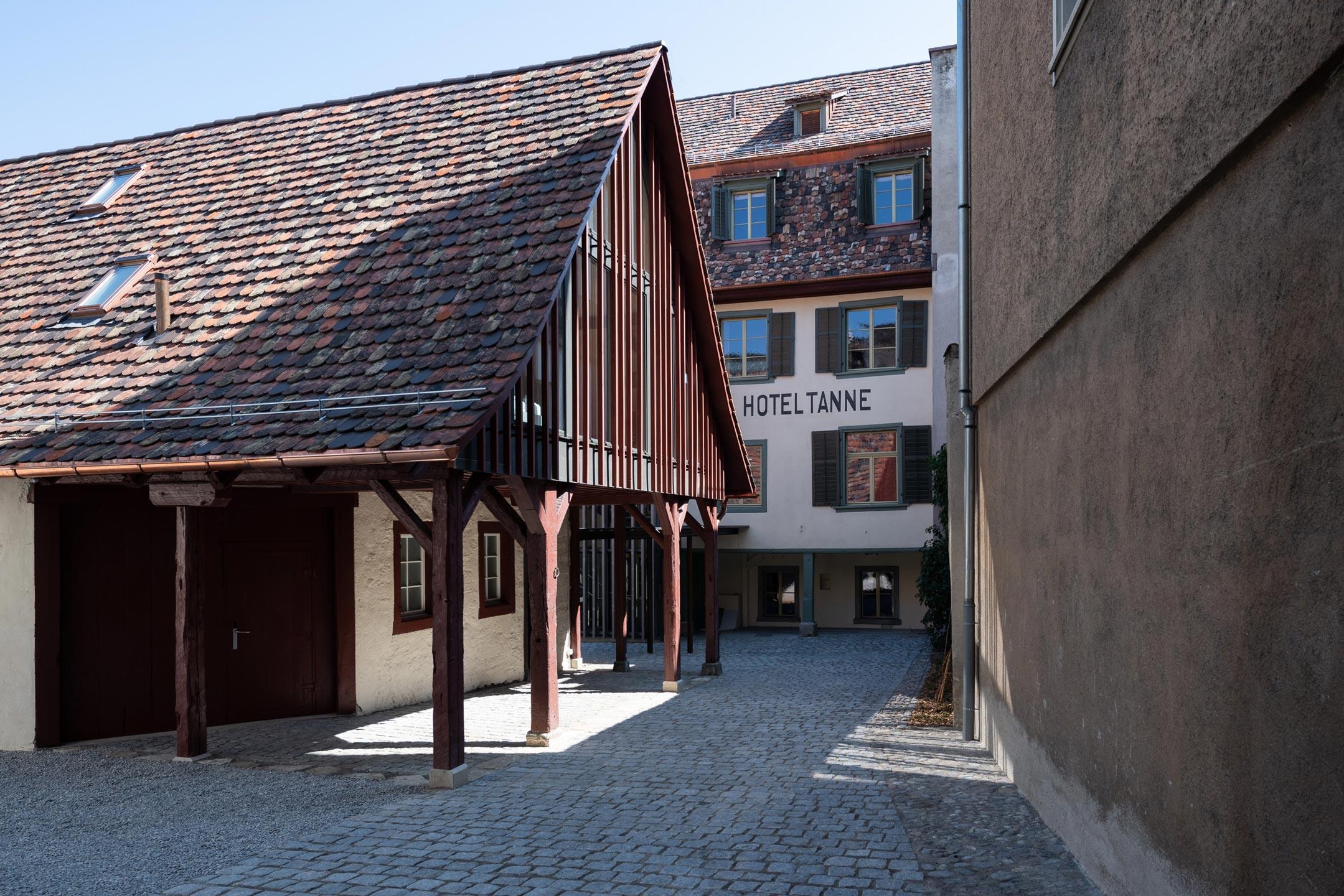Umbau Hotel Tanne Schaffhausen Innenhof